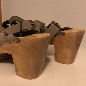 Sheepish Shoes - Anthropologie wooden sole sandals